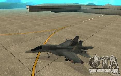 Су-34 для GTA San Andreas вид сзади слева
