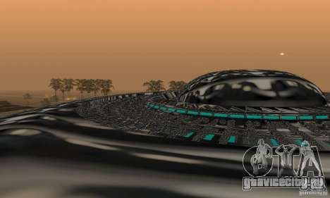 UFO для GTA San Andreas вид сзади слева