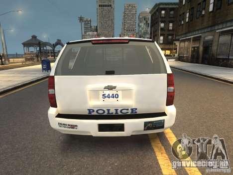 Chevrolet Tahoe NYPD V.2.0 для GTA 4 вид сзади слева