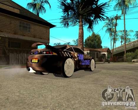 Mitsubishi Eclipse RZ 1998 для GTA San Andreas вид сзади слева