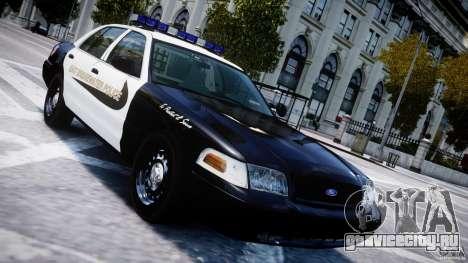 Ford Crown Victoria Massachusetts Police [ELS] для GTA 4 вид сверху