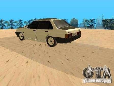 ВАЗ 21099 Зимняя для GTA San Andreas вид сзади слева