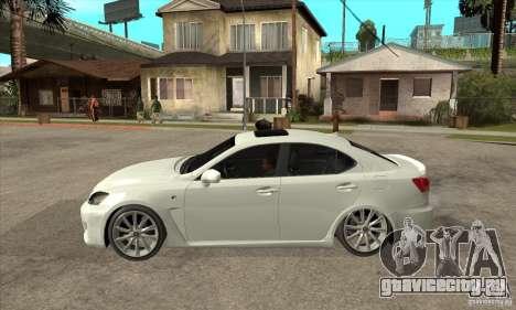 Lexus IS F 2009 для GTA San Andreas вид сзади слева