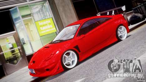 Toyota Celica Tuned 2001 v1.0 для GTA 4 вид слева