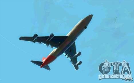 Boeing Qantas 747-400 для GTA San Andreas вид сзади