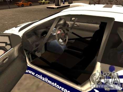 Peugeot 206 WRC из Richard Burns Rally для GTA San Andreas вид сзади слева