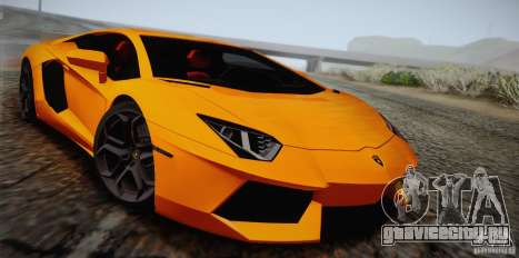 Lamborghini Aventador LP700-4 Final для GTA San Andreas вид сверху