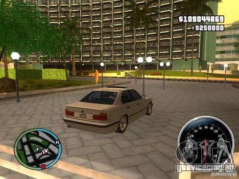 BMW E34 540i для GTA San Andreas вид слева