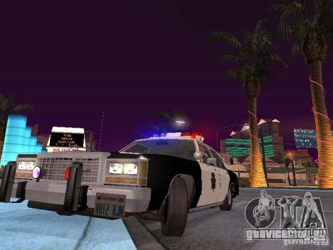 Ford LTD Crown Victoria Interceptor LAPD 1985 для GTA San Andreas вид изнутри