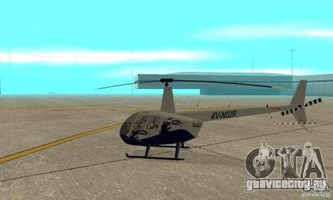 Robinson R44 Raven II NC 1.0 Скин 4 для GTA San Andreas вид сзади слева