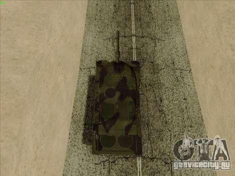 Leopard 2A6 для GTA San Andreas вид сзади
