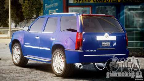 Cadillac Escalade [Beta] для GTA 4 вид сзади слева