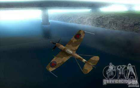 Spitfire для GTA San Andreas вид сзади