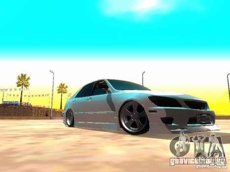 Toyota Altezza HKS для GTA San Andreas вид слева