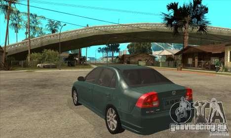 Honda Civic 2005 для GTA San Andreas вид сзади слева