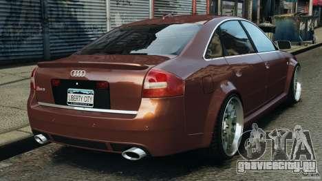 Audi RS6 2003 для GTA 4 вид сзади слева