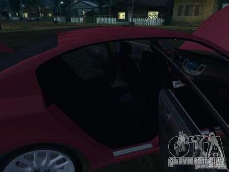 Hyundai Genesis для GTA San Andreas вид снизу