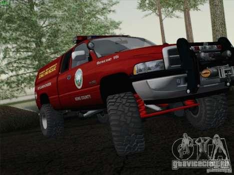 Dodge Ram 3500 Search & Rescue для GTA San Andreas вид сзади слева