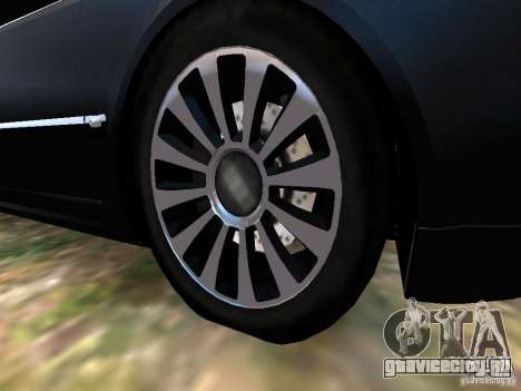 Audi A8L W12 для GTA 4 вид снизу