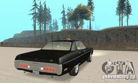 Plymouth Fury III Police для GTA San Andreas вид слева