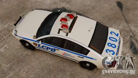 Полицейский Pinnacle ELS для GTA 4 вид справа