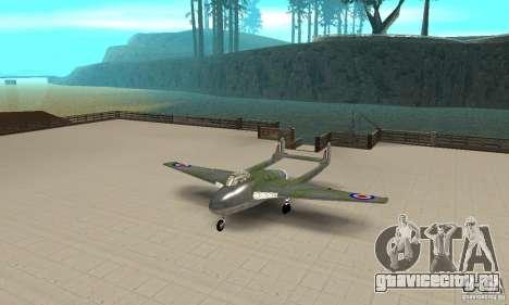 De-Havilland-Vampire ver 2.0 для GTA San Andreas