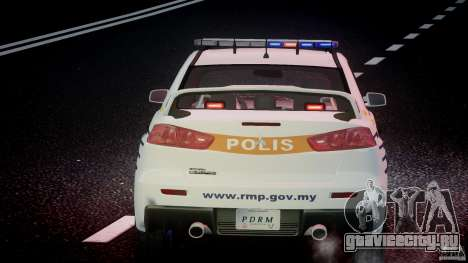 Mitsubishi Evolution X Police Car [ELS] для GTA 4 салон