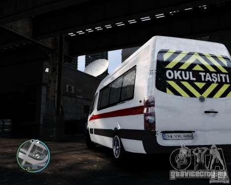 Volkswagen Crafter Turkish Schoolbus для GTA 4 вид справа