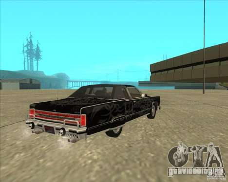 Lincoln Continental Town Coupe 1979 для GTA San Andreas вид изнутри