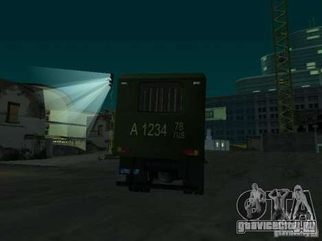 ГАЗ 3309 Автозак для GTA San Andreas вид сбоку