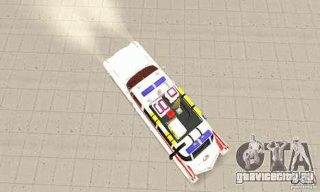 Ghostbusters ECTO 1 для GTA San Andreas вид сзади слева