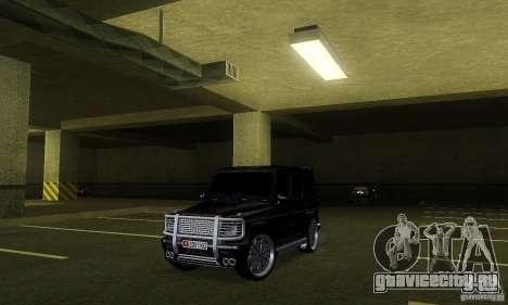 Mercedes Benz G500 ART FBI для GTA San Andreas вид слева