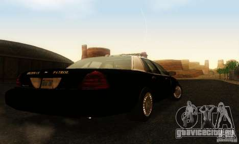 Ford Crown Victoria Wyoming Police для GTA San Andreas вид слева