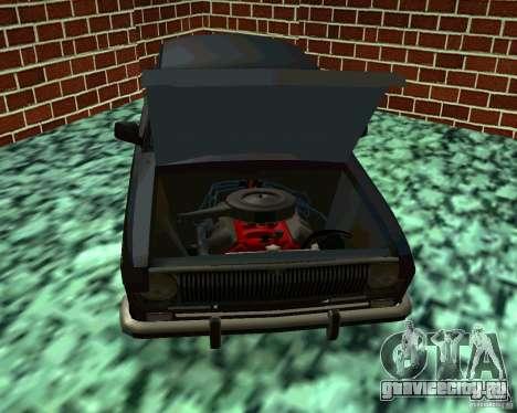 ГАЗ 24 v3 для GTA San Andreas вид изнутри