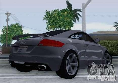 Audi TT-RS Coupe для GTA San Andreas вид сзади слева