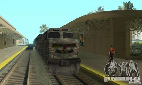 Камуфляжный поезд для GTA San Andreas вид слева