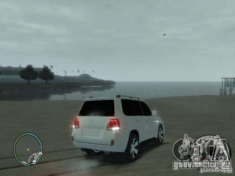 Toyota Land Cruiser 200 FINAL для GTA 4 вид изнутри