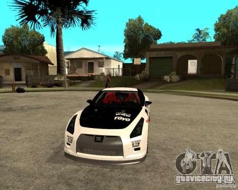 Nissan Skyline R35 для GTA San Andreas вид сзади