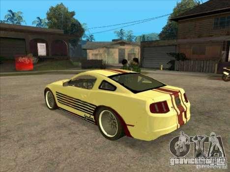 Ford Mustang Jade from NFS WM для GTA San Andreas вид сзади слева