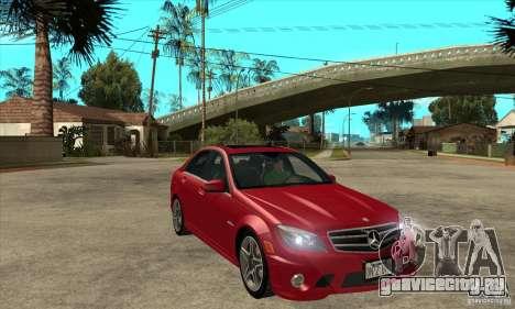 Mercedes-Benz C63 AMG 2010 для GTA San Andreas двигатель