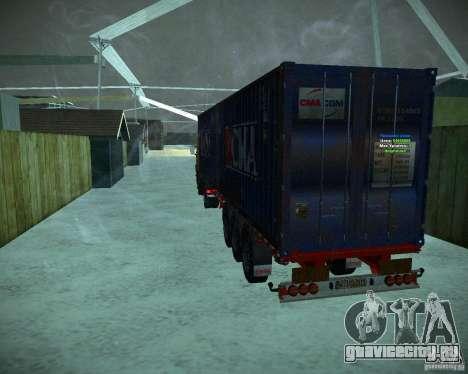 Container для GTA San Andreas вид сзади слева