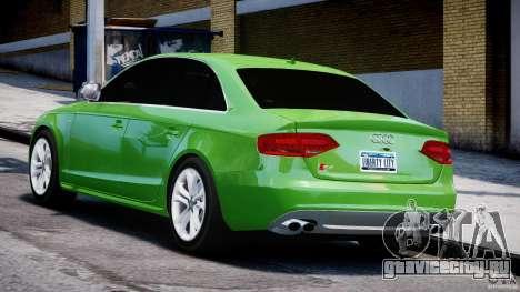 Audi S4 2010 v1.0 для GTA 4 вид сзади слева