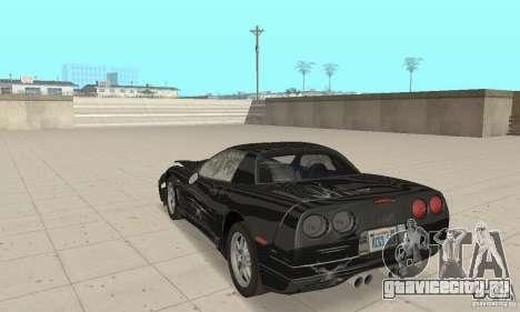 Chevrolet Corvette 5 для GTA San Andreas вид сверху
