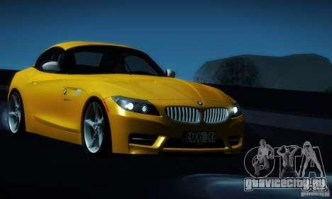BMW Z4 Stock 2010 для GTA San Andreas вид сбоку