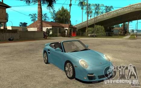 Porsche 911 Cabriolet 2010 для GTA San Andreas вид сзади