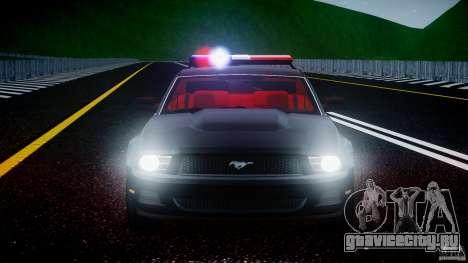 Ford Mustang V6 2010 Police v1.0 для GTA 4 двигатель