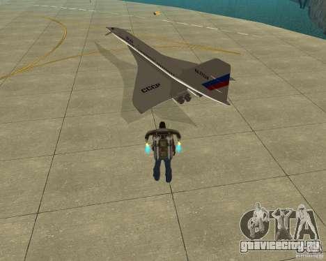 Tupolev TU-144 для GTA San Andreas вид слева