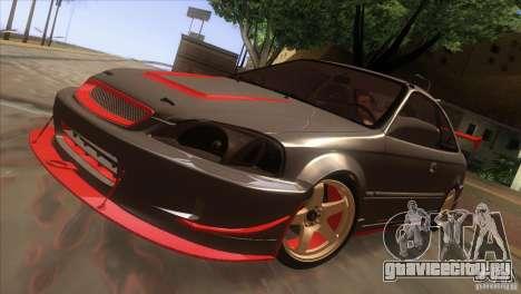 Honda Civic SI для GTA San Andreas вид сбоку