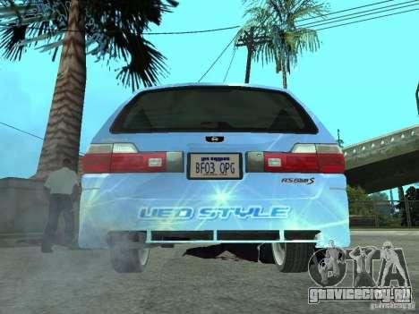 Nissan Stagea 25RS four S для GTA San Andreas вид сзади слева