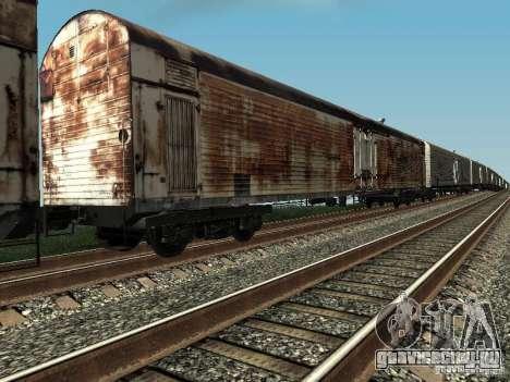 Рефрежираторный вагон Дессау №4 Ржавый для GTA San Andreas